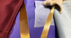 本番用の薄絹布