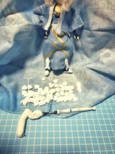 ダイソー樹脂粘土一袋でこれだけ作れました…